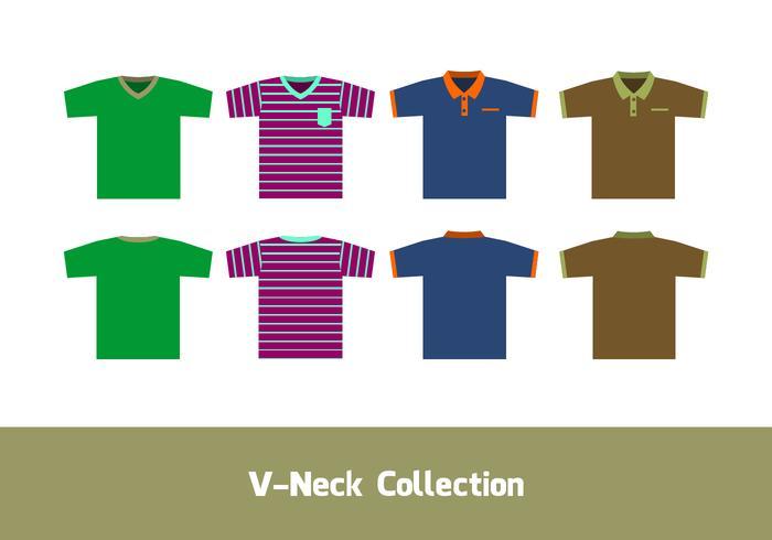 V-neck shirt template vector livre