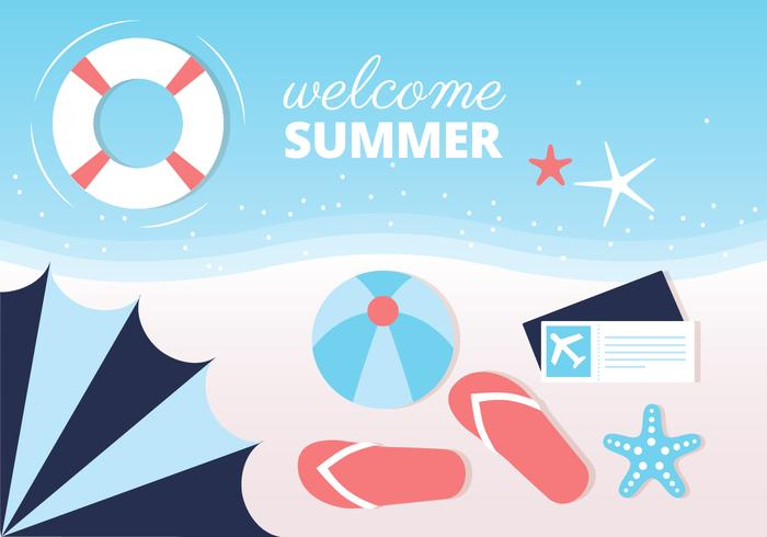 Fundo de vetores da Summer Beach grátis