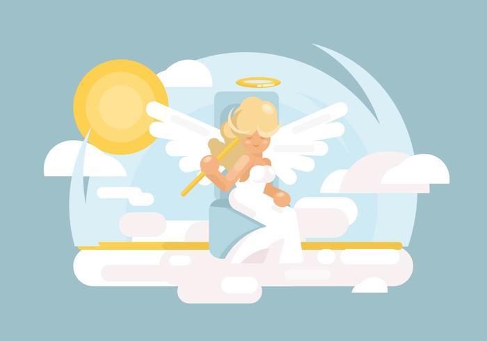 Ilustração das asas do anjo vetor
