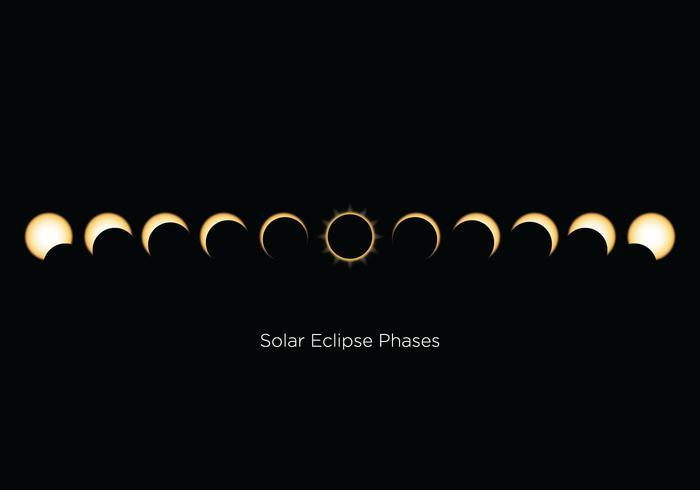 Fases gratuitas do Eclipse Solar vetor