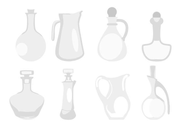 Vetor de ícones de decantadores gratuitos