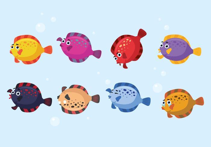 Vetor de peixes da solha