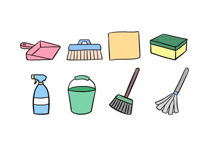Conjunto de ícones de limpeza vetor