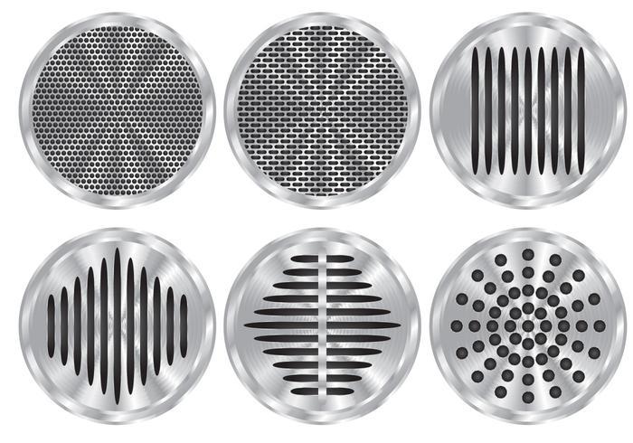 Seis vetores de grade de alto-falante