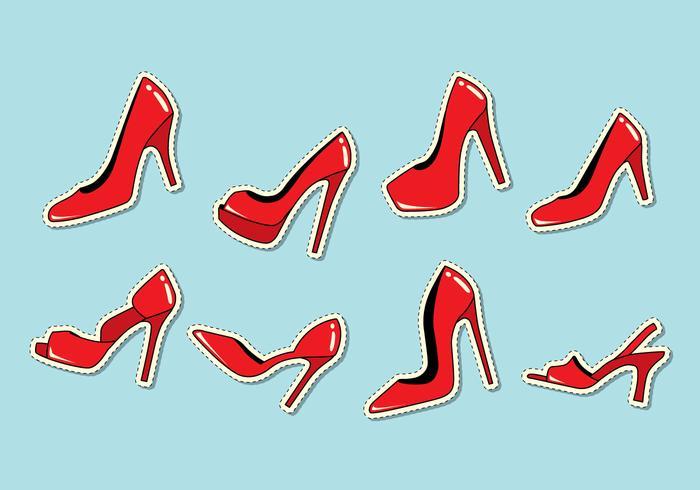 Vetor de chinelo vermelho rubi
