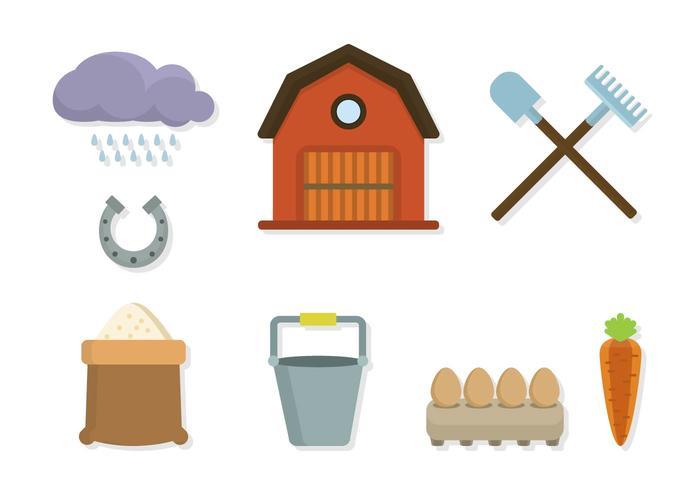 Vetores planos da agricultura