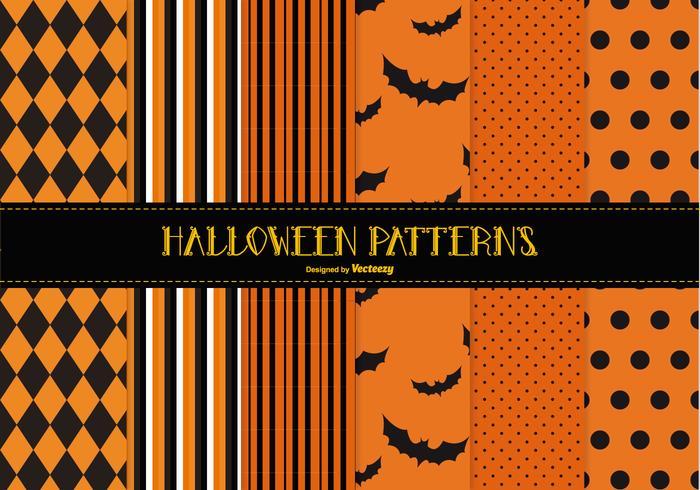 Coleção Spooky Halloween Pattern vetor