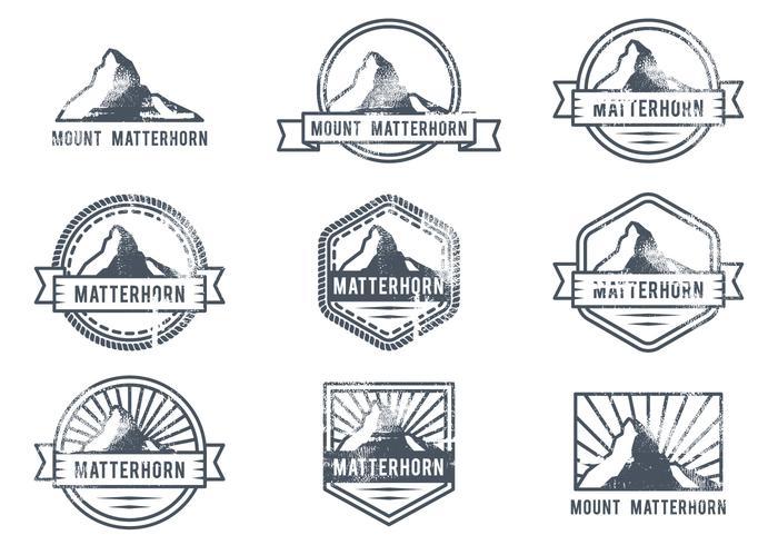 Logotipo Matterhorn Outdoor Adventure vetor