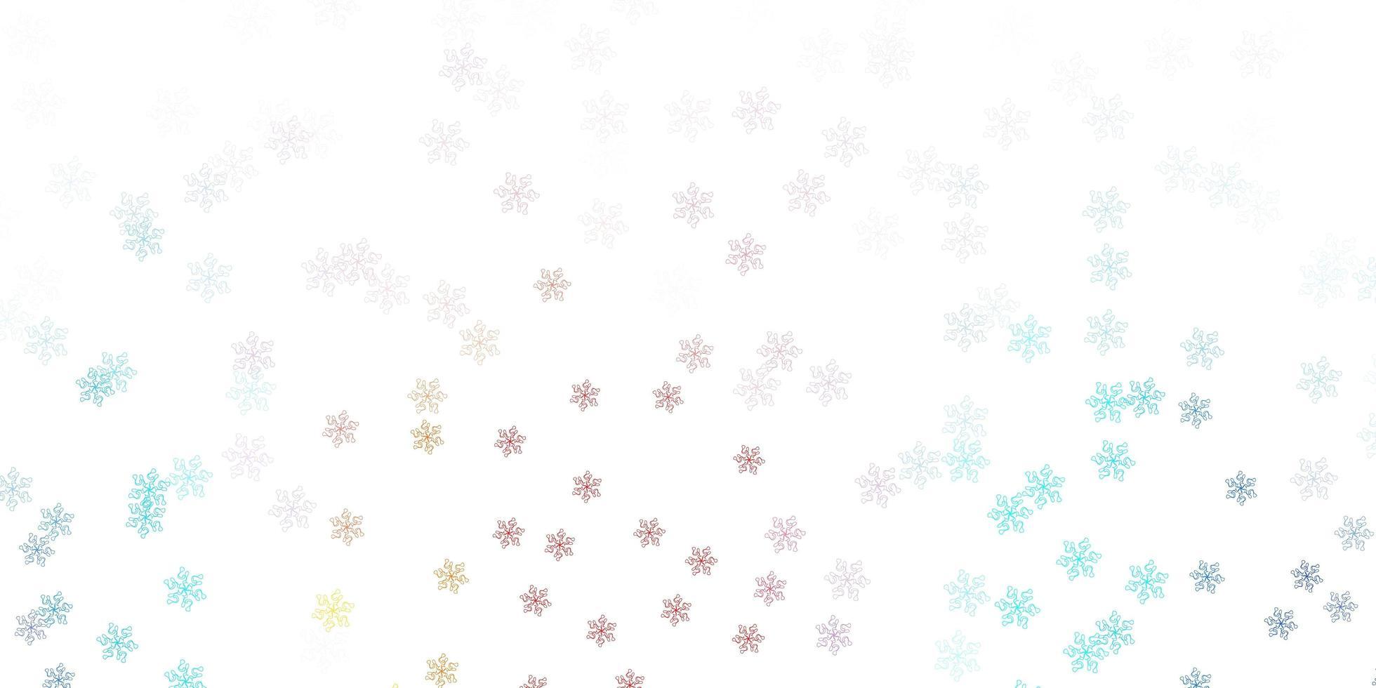 textura de doodle azul e vermelho claro com flores. vetor
