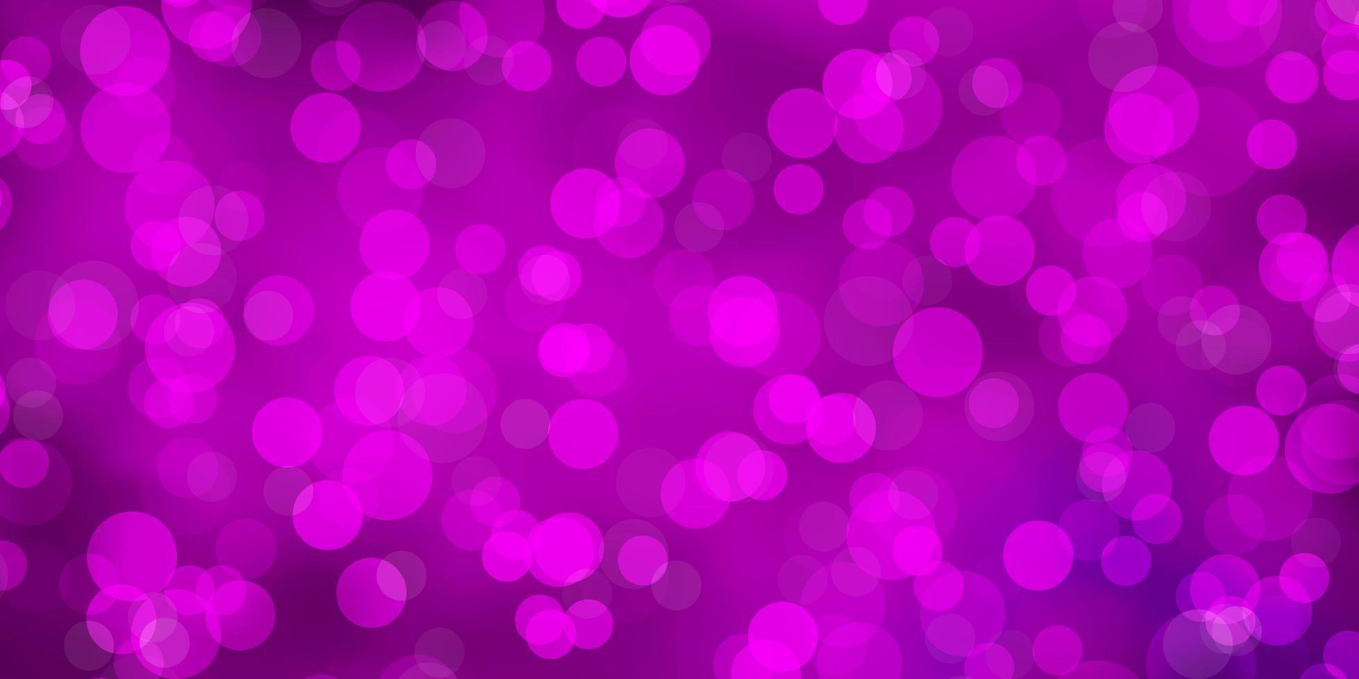 fundo rosa com círculos. vetor