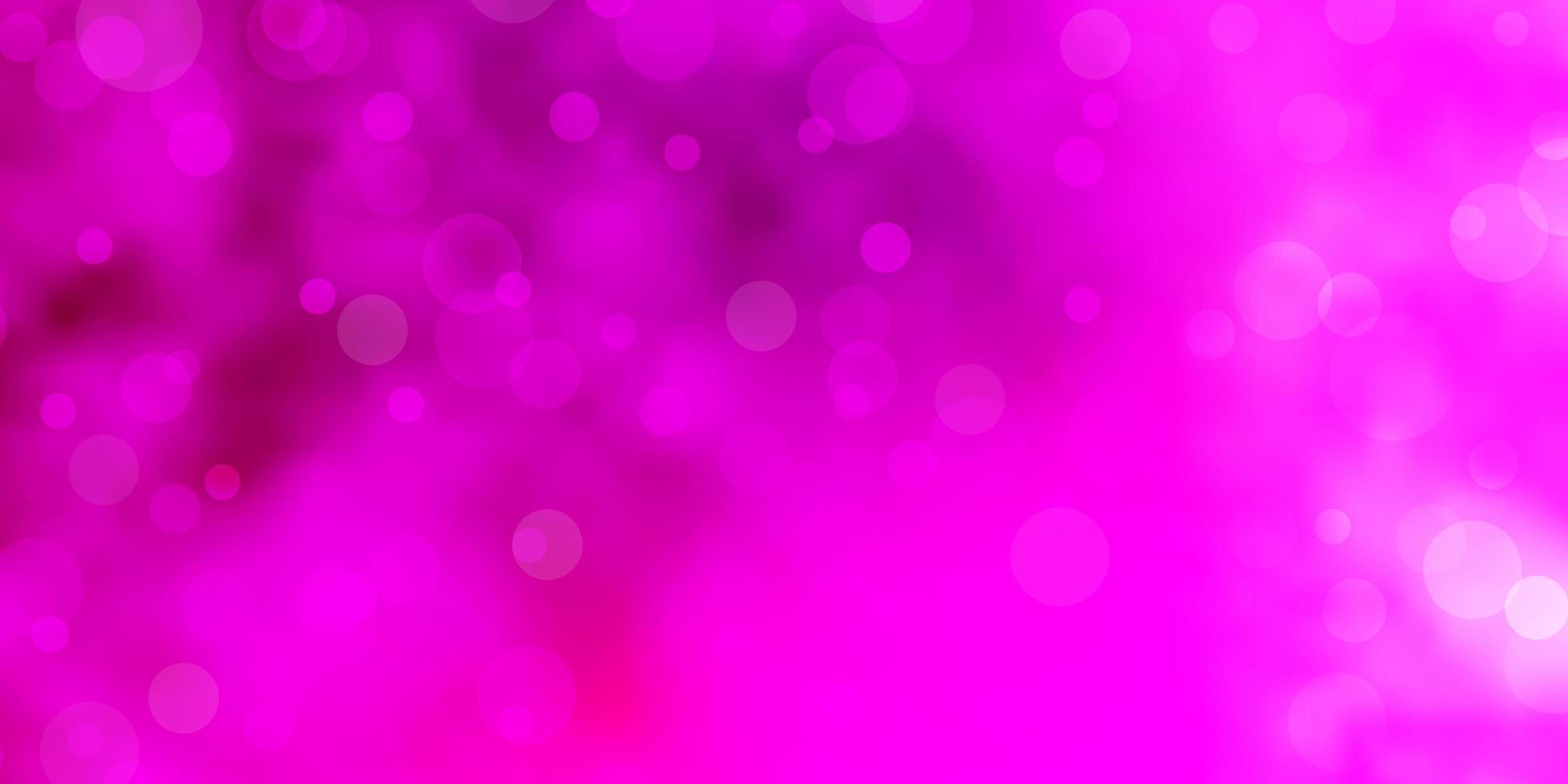 layout rosa claro com formas de círculo. vetor