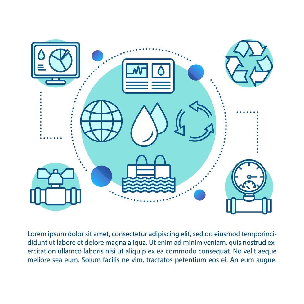 conceito de indústria de água vetor