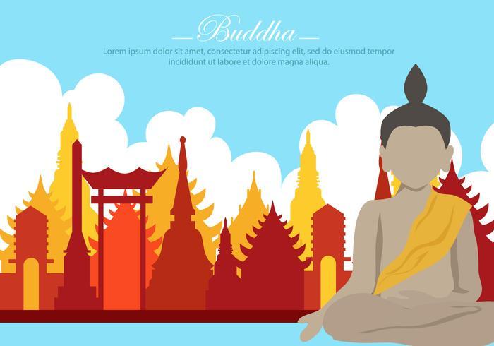 Buddha no vetor do templo