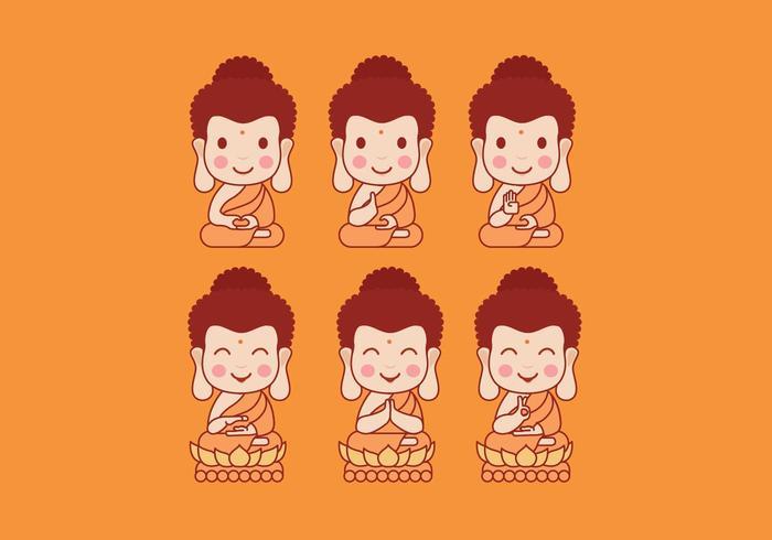 Buddah cartoon vector