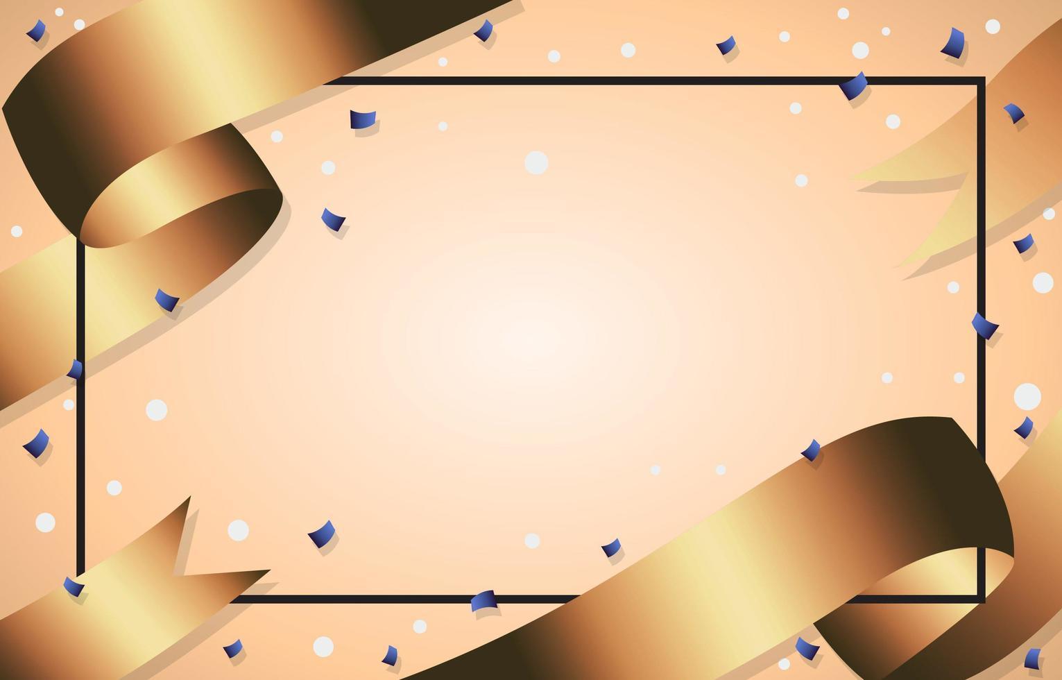 fundo de fitas de ouro de luxo vetor