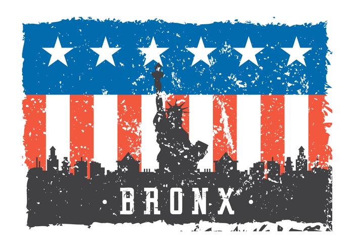 Ilustração de Bronx do grunge vetor