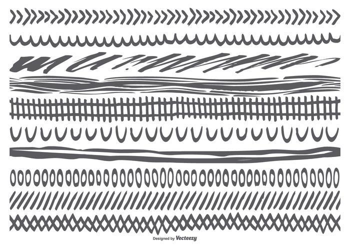 Coleção Sledgey Hand Drawn Borders vetor
