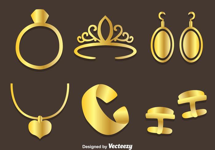 Vetor de joias de ouro