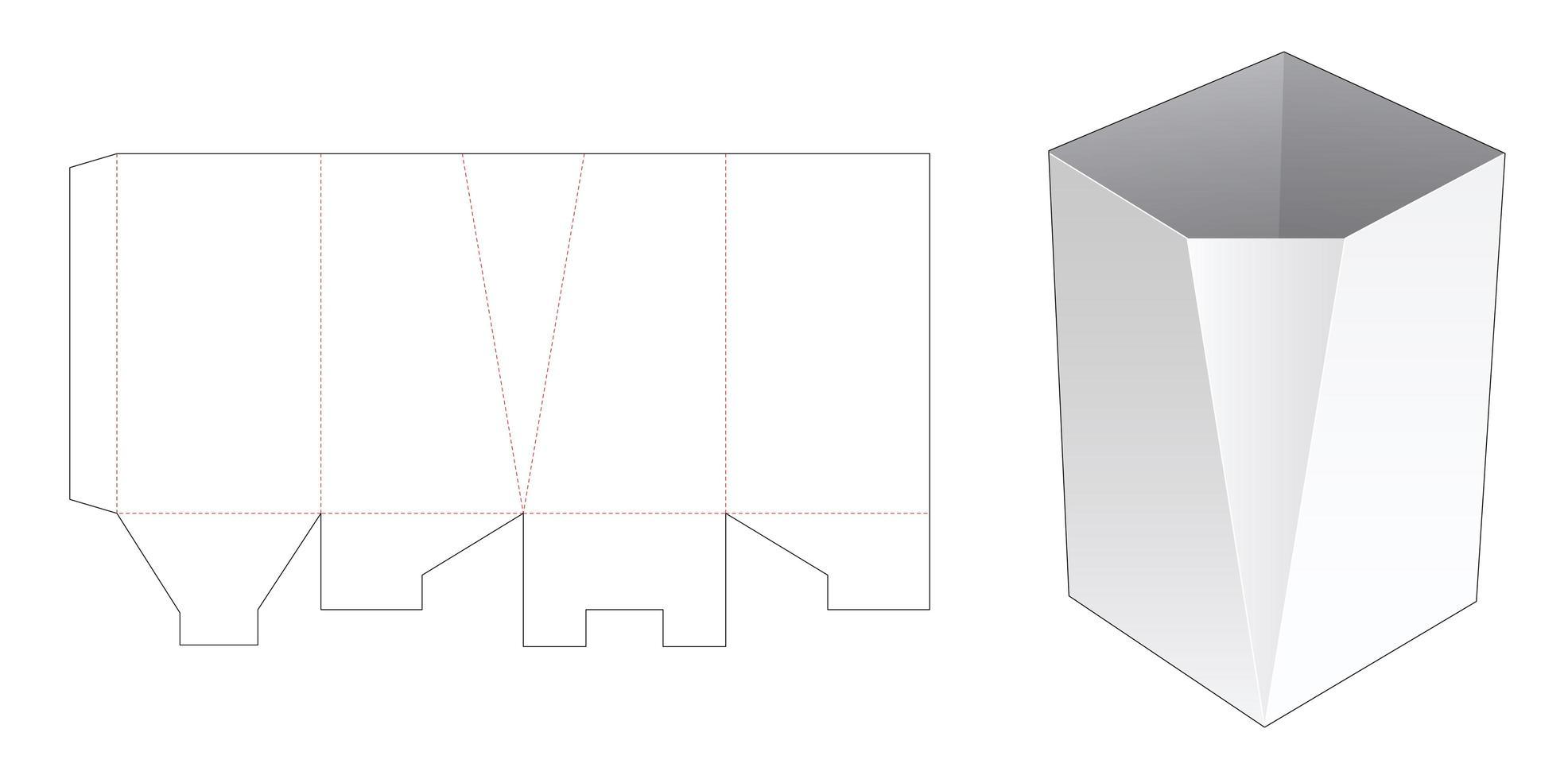 modelo de caixa de papelaria chanfrada vetor