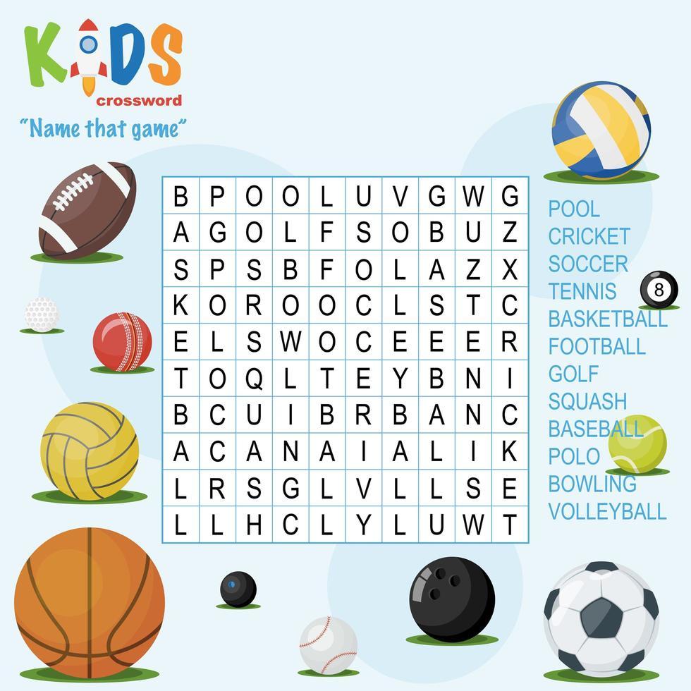 Nomeie aquele jogo de quebra-cabeça de busca de palavras vetor