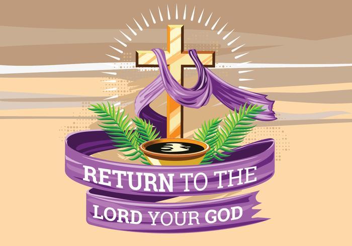 Semana Santa. O tempo da Quaresma. Ilustração desenhada à mão vetor