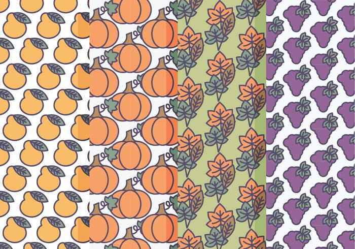 conjunto de vetores de padrões de queda