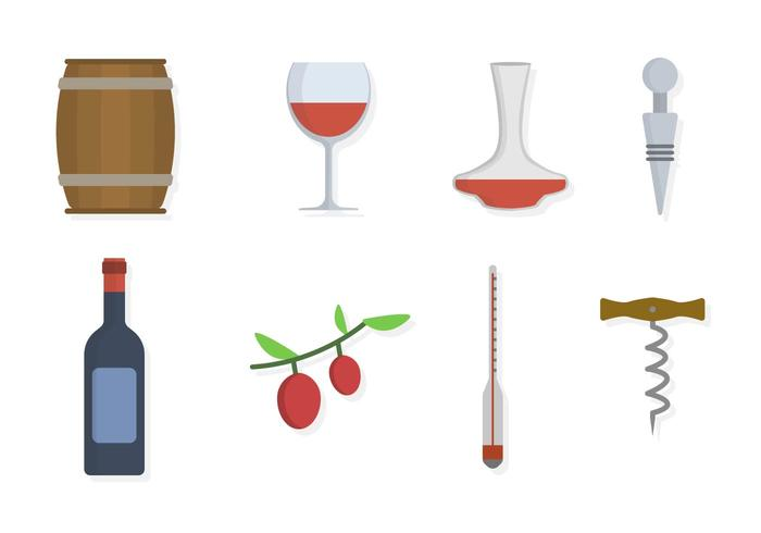 Flat Wine Taster Vetores essenciais