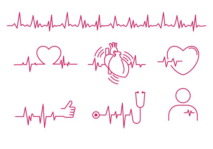 Vector de linha do ritmo cardíaco