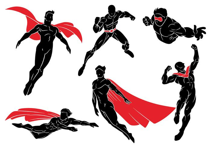 Ícones do vetor Super Heroes
