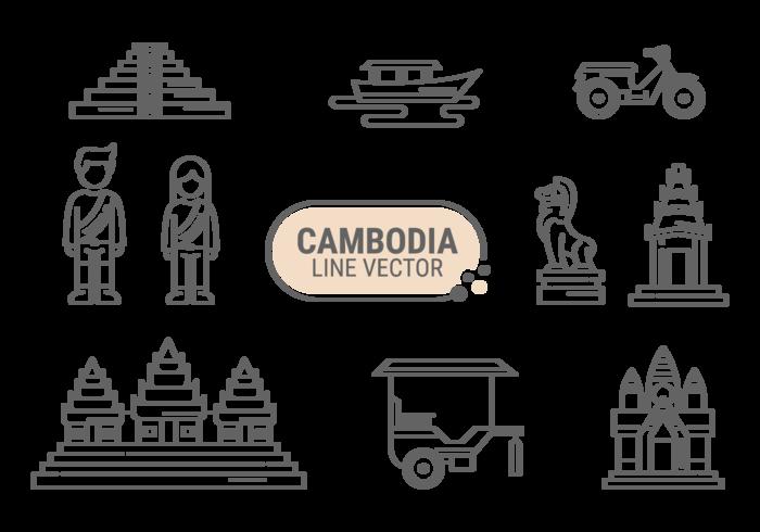 Ícone do ícone de Cambodia vetor