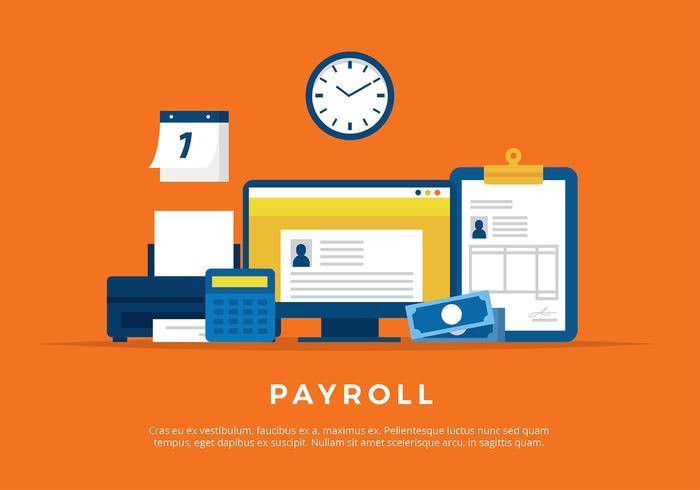 Ilustração da folha de pagamento Vector grátis