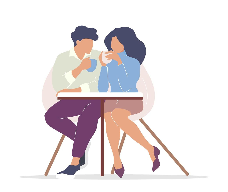 casal bebendo chá vetor