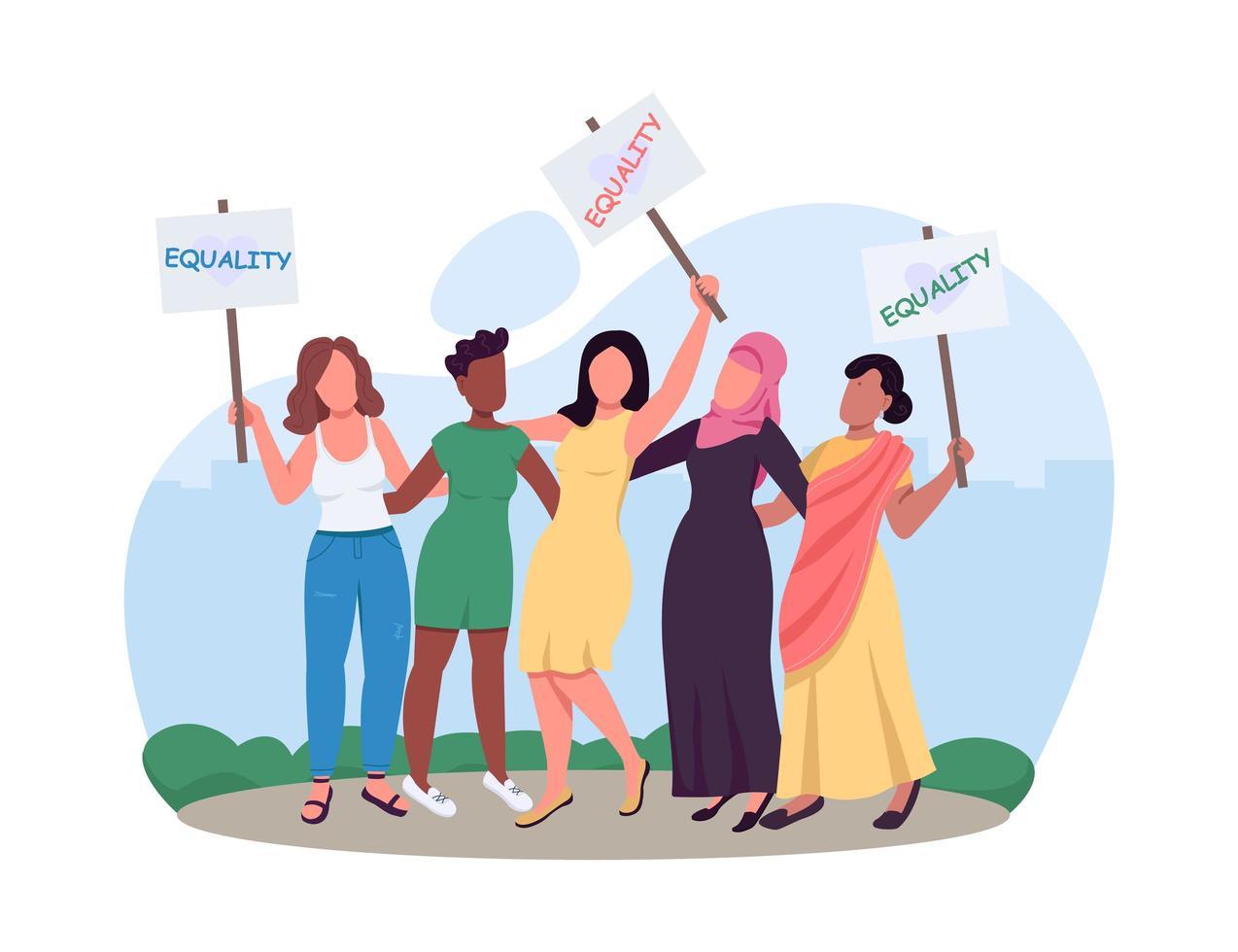 grupo de empoderamento feminino vetor