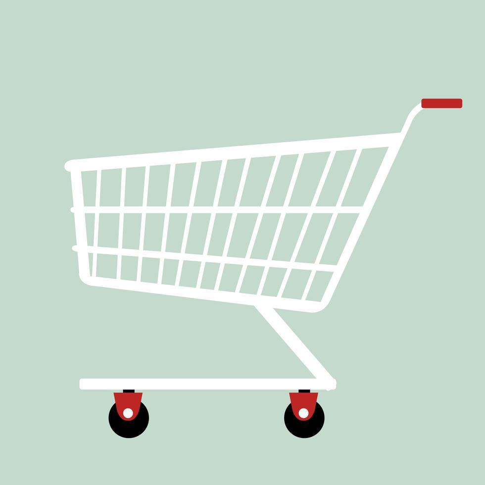 design plano de carrinho de compras vetor