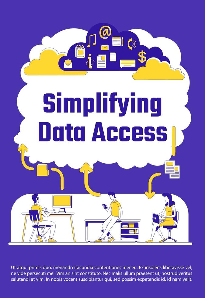 simplificando pôster de acesso a dados vetor