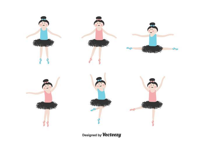 Conjunto de vetores de bailarina