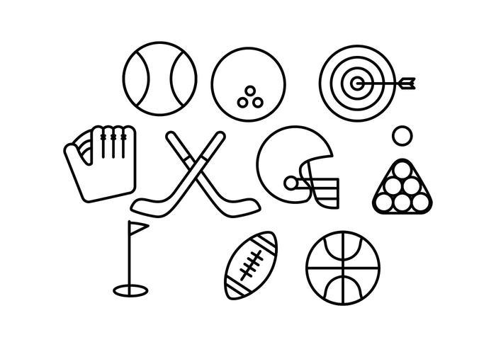 vetor de ícone de linha de esporte livre