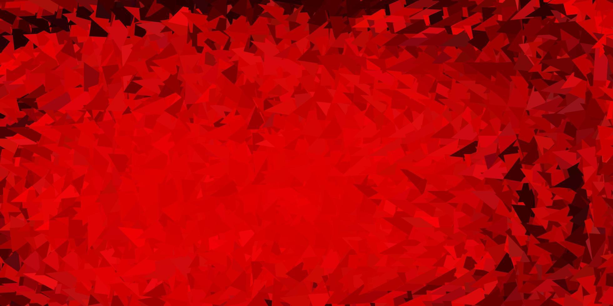 desenho de polígono gradiente vermelho escuro. vetor
