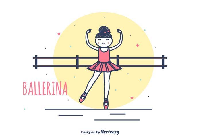 Ilustração vetorial Prima Ballerina vetor