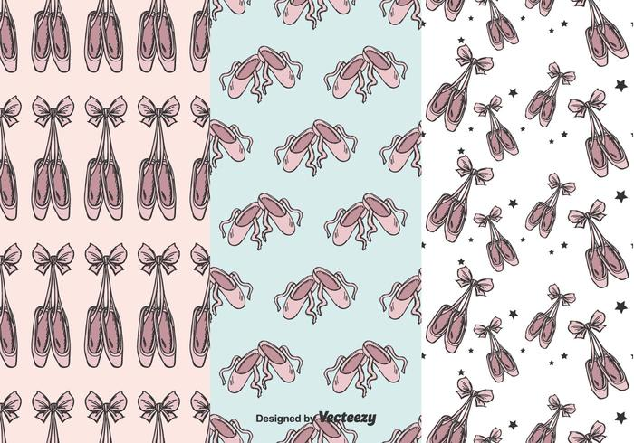 ballet pointe shoes vector pattern