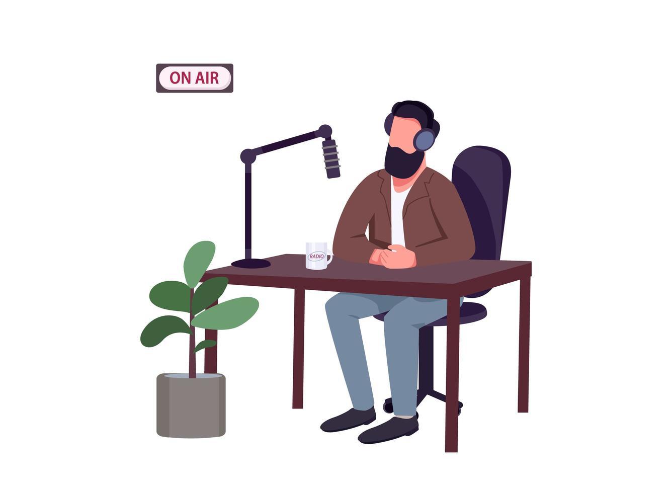 apresentador de programa de rádio vetor