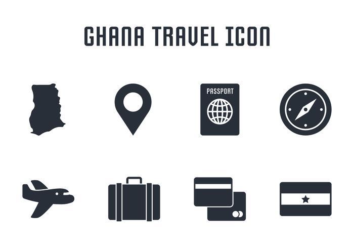 Ícone de viagem do Ghana vetor