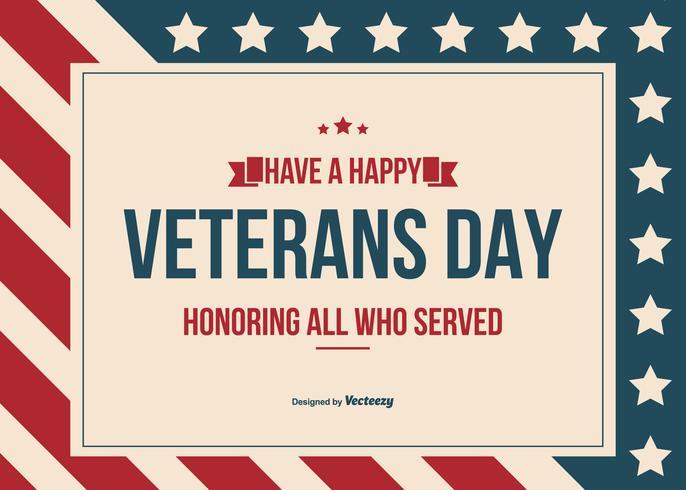 Fundo feliz do vetor do dia dos veteranos