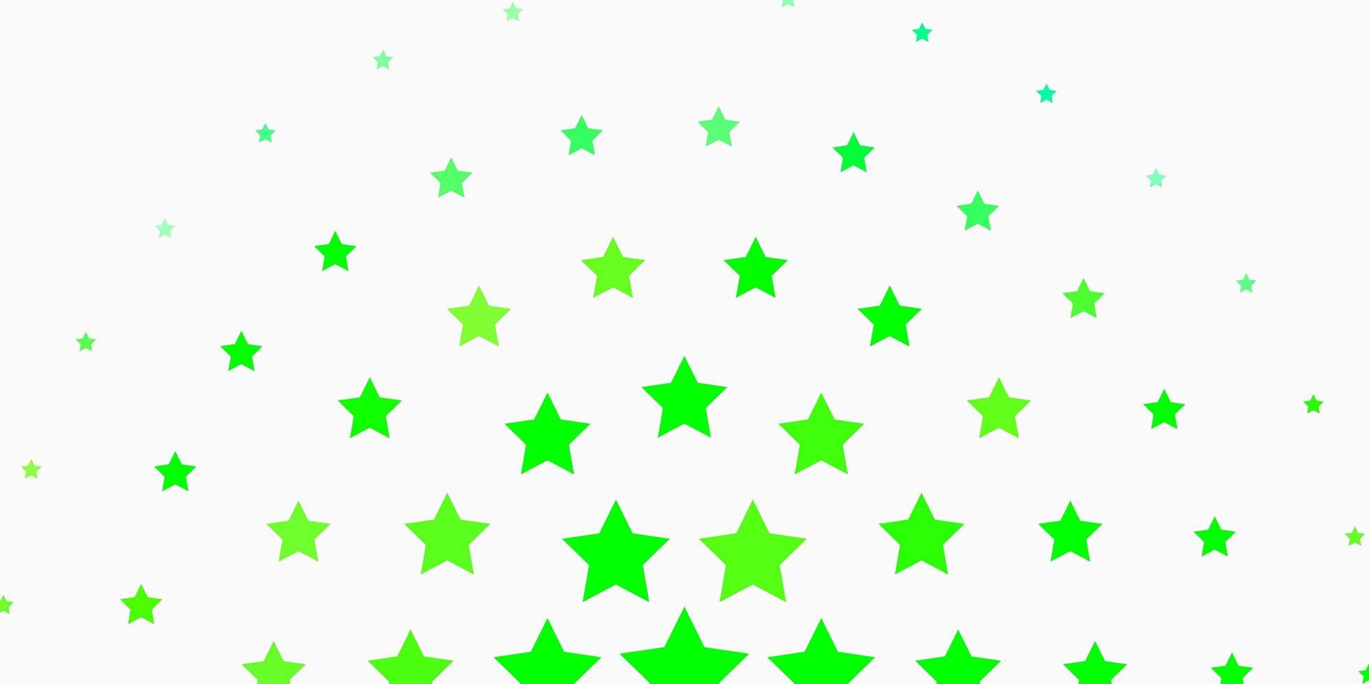 textura verde clara com belas estrelas. vetor