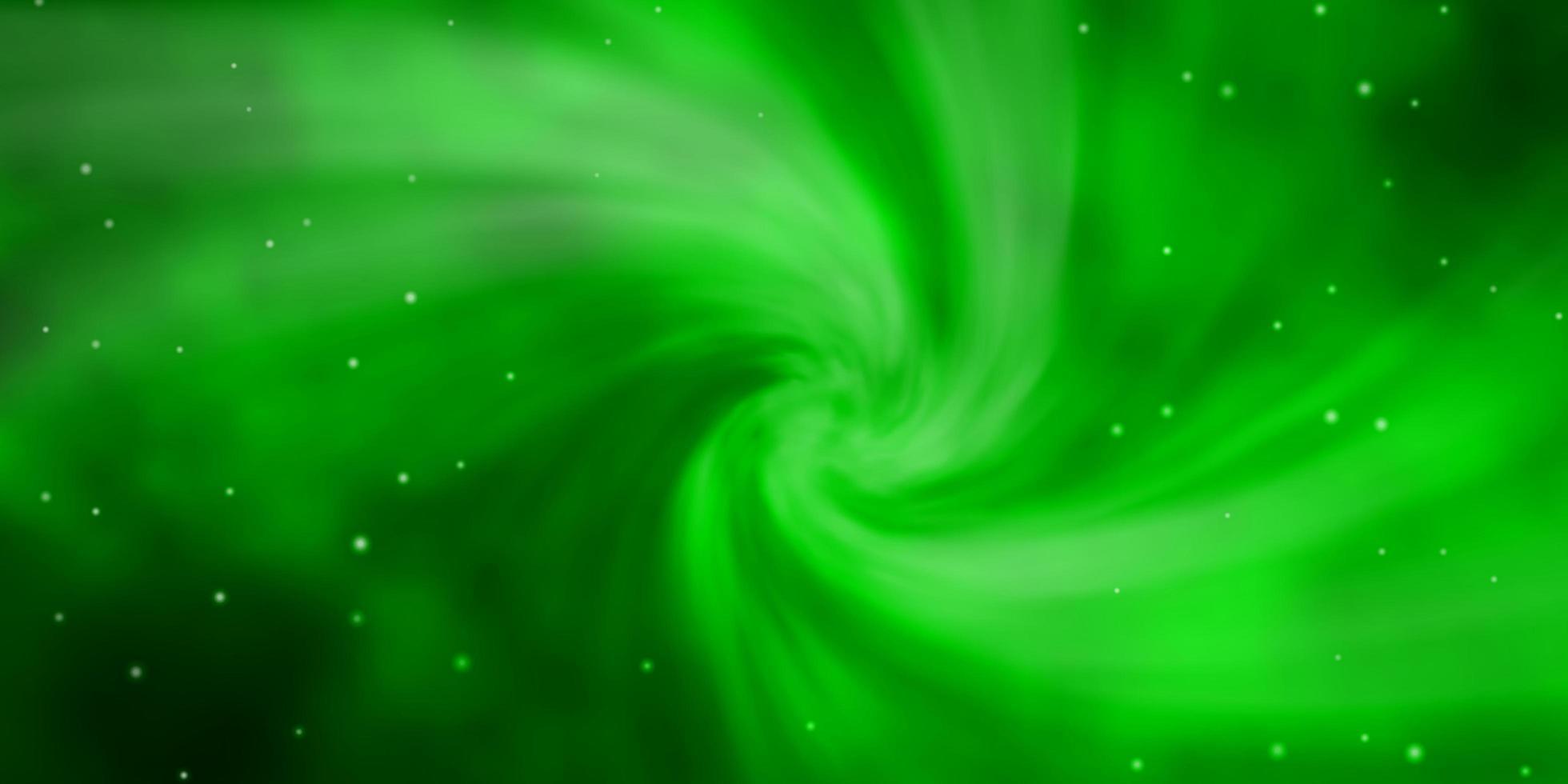 fundo verde claro com estrelas pequenas e grandes. vetor