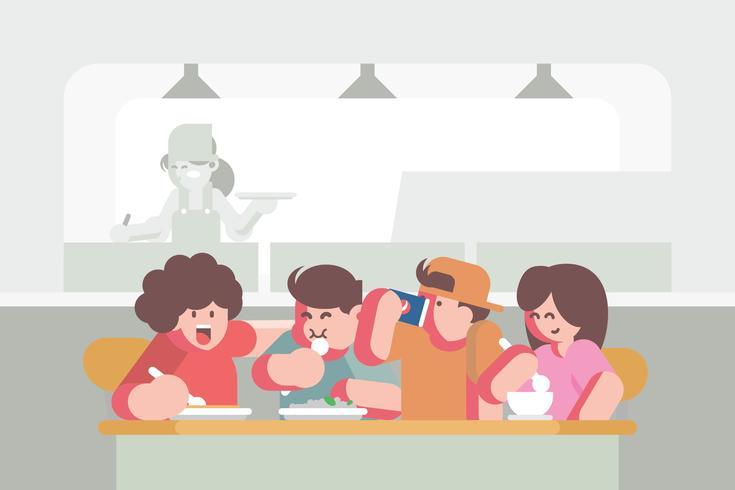 Ilustração da Cantina vetor