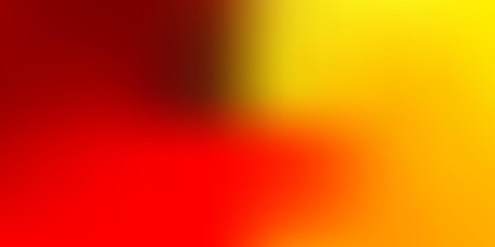 layout de borrão vermelho claro e amarelo. vetor