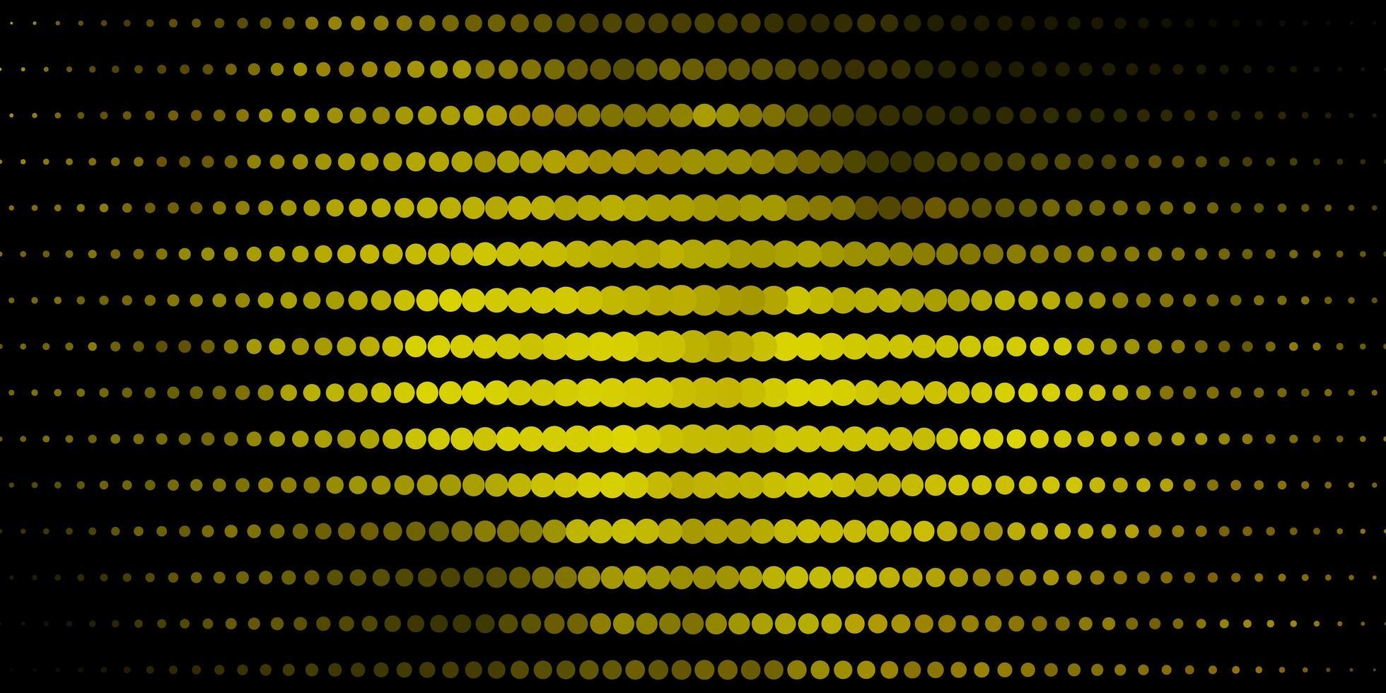 fundo verde e amarelo escuro com círculos. vetor