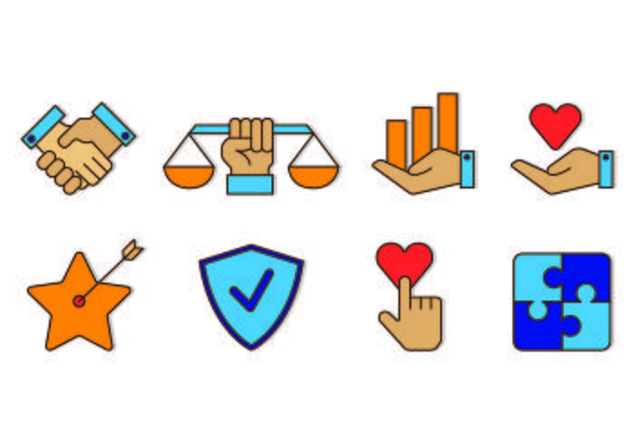 Ícone do conjunto de integridade vetor