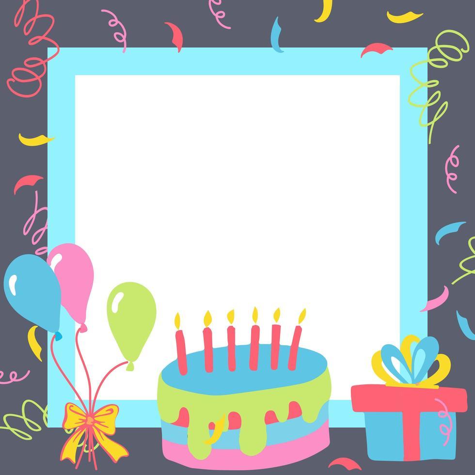 caixas de presente de feliz aniversário vetor